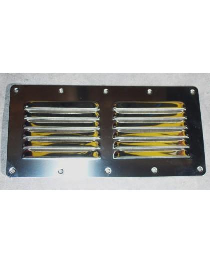 Grille de ventilation INOX 230 X 115mm
