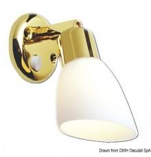 Lampe Opal laiton poli