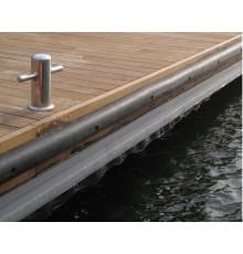 Profilé pour protéger les quais, les pontons et les poteaux d'amarrage