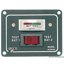 Panneau test pour 2 batteries activable par interrupteur