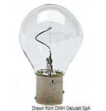 Ampoule à filament vertical, pôles désaxés