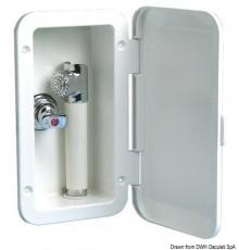 Coffret douche avec douche à bouton Mizar et robinet mélangeur