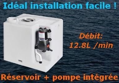 Réservoir d'eau + pompe intégrée