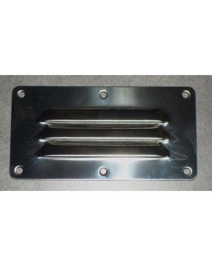 Grille de ventilation INOX 127 X 65 mm
