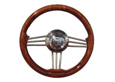 Volant en bois vernis diamètre 350 mm