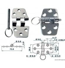 Charnières 2 mm 72x38,5 Le lot de 2