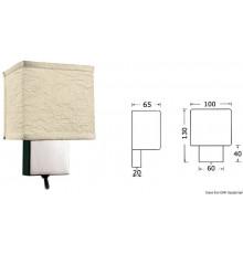 Spot vertical en laiton chromé avec interrupteur