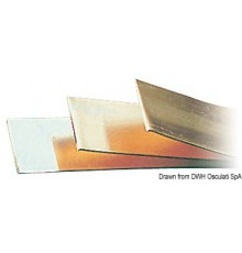 Bande cuivre zingué 2x20 mm (4,20 m bar)