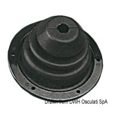 Soufflet en caoutchouc avec frette en ABS 140 mm Le lot de 2