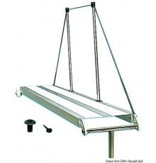 Passerelle En aluminium anodisé, surface antidérapante blanche