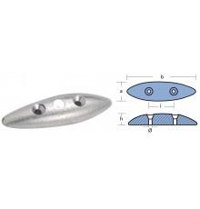 Anode zinc ovale