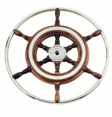 Barre à roue bois et inox 420-700 mm