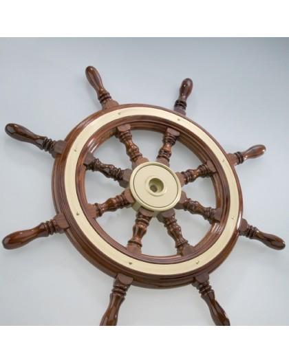 Barre à roue en bois cerclage laiton diamètre 300-800mm