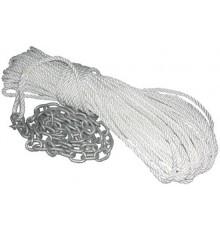 Bosse de mouillage de nylon avec chaine, cosse, et manille