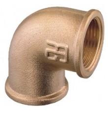 Coude 90º femelle-femelle bronze.