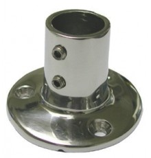 PLATINE 90° INOX base ronde