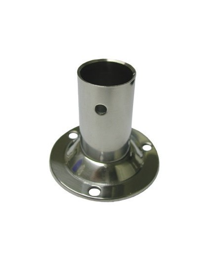PLATINE 90° INOX ECO base ronde