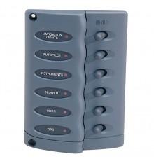 Tableaux électriques compacts à 6 interrupteurs HELLA MARINE
