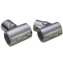 Tés pour mains courantes en inox. 22 25 et 30 mm