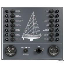 Tableau électrique avec 14 interrupteurs