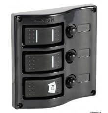 Tableau électrique avec interrupteur caréné