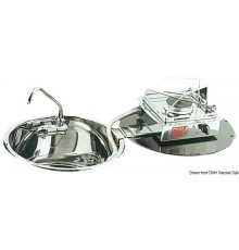 Plans de cuisson rabattables à charnière dans évier