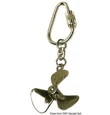 Lot Porte-clés avec chaînette et anneau en laiton poli