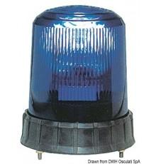 Feu de couleur bleue p. véhicule de secours
