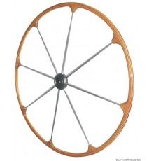 Barres à roue avec couronne en teck