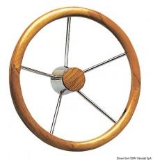 Barres à roue, avec couronne en teck à fort diamètre