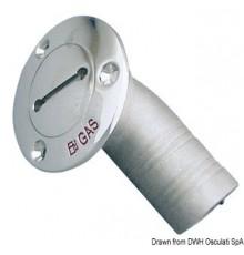 Bouchons de nable à ras en inox AISI 316 poli miroir, coudés à 30°