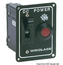 Commande pour guindeaux ou hélices de proue avec interrupteur de sécurité