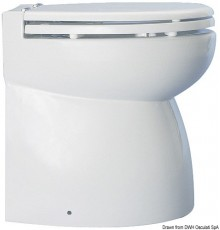 WC électrique caréné avec cuvette en porcelaine blanche