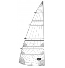 Grand-voile lattée SO radial