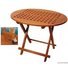 Table pliante ovale en teck véritable