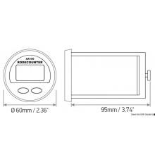 Compteur de mètres LEWMAR avec alarme acoustique