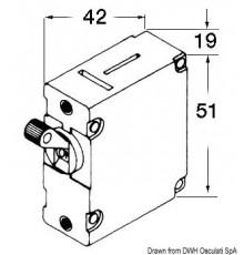 Interrupteurs AIRPAX à levier magnéto/hydrauliques à fusible automatique rechargeable