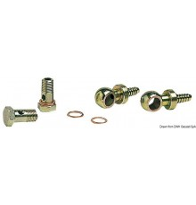 Kit 2 raccords pivotants en laiton + 2 embouts + 4 joints en cuivre