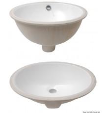 Eviers ovales en céramique blanche