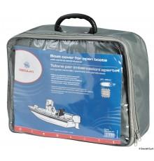 Bâche pour bateaux sans cabine traditionnelle avec position de conduite centrale/pontés avec pare-brise