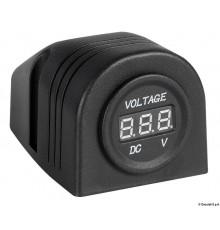 Voltmètre numérique et prises de courant, fixation sur plan