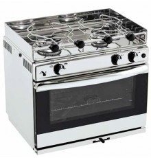 CUISINIERE 2 FEUX INOX + GRILL