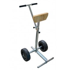 Support moteur en acier galva et chromé avec roues