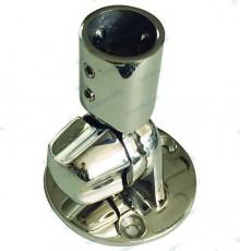 Base réglable pour tube en inox 22mm