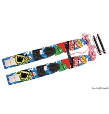 Skis nautiques AIRHEAD Monsta Splash Trainer Skis en bois traité Skis nautiques AIRHEAD Monsta Splash Trainer Skis en bois trait