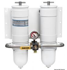Filtre RACOR entièrement métallique - Version double avec valve de sélection Filtre RACOR entièrement métallique - Version doub