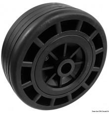 Rouleau/roues avec noyau en technopolymère et extérieur en caoutchouc. Rouleau/roues avec noyau en technopolymère et extérieur e