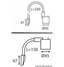 Spot LED articulé tête de lit / lecteur de cartes Spot LED articulé tête de lit / lecteur de cartes
