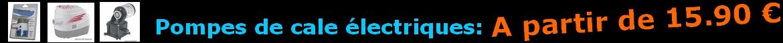pompe de cale électrique à partir de 15.90€